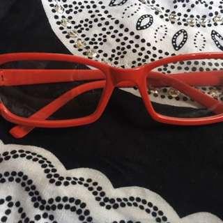 Frame Kacamata Merah Polos