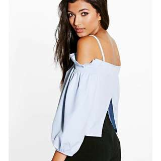 **BN** BOOHOO off-shoulder open back top