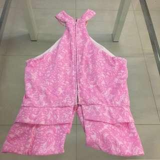 Angel Biba Dress Top Lace Pink