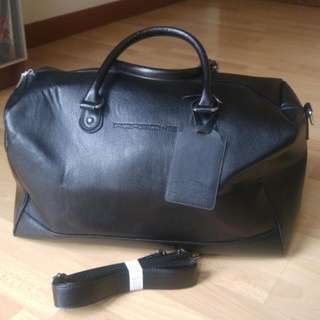 Official Porsche Leather Luggage Bag