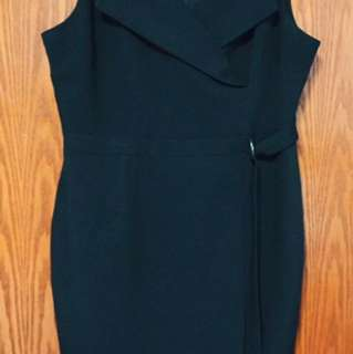 Black Dress - Dorothy Perkins Sleeveless Dress (with Belt)