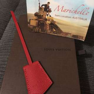 Louis Vuitton Red Leather Key Clochette