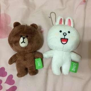 LINE 娃娃正版 熊大兔兔 全新