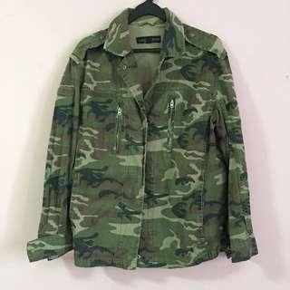 Camo Print Army Jacket (Topshop Petite)