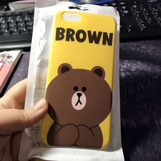 iPhone 6 / 6S Line Friends Brown Soft Case