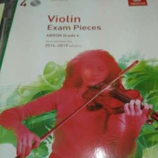 ABRSM 皇家 小提琴 考試 四级 exam Grade 4 Violin With Cd