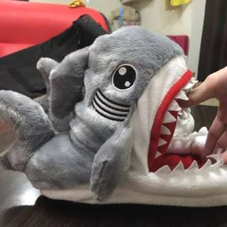 😍😍鯊魚拖鞋/毛毛鞋,只穿過一次