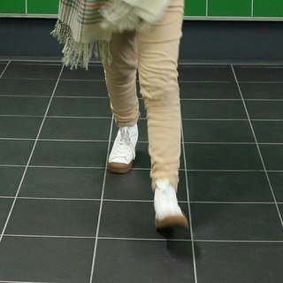 TOSHOP White Ankle Boot Sneakers (size 38)