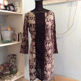 Mouse over image to zoom Tango-Long-Sleeved-Animal-Print-Short-Dress-Size-M  Tango-Long-Sleeved-Animal-Print-Short-Dress-Size-M Have one to sell? Sell it yourself Tango Long Sleeved Animal Print Short Dress Size M
