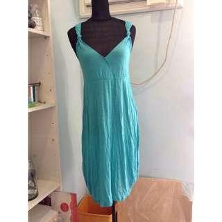 H&M Turquoise Summer Dress Racer Back Size M