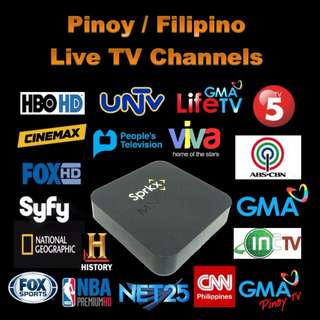 PINOY + USA TV CHANNELS & ON DEMAND MOVIES