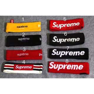 現貨❗️ Supreme 15FW FLEECE HEADBAND髮帶/頭巾/健身房/new era