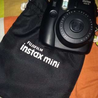 """Instax Mini 8""""Black"""" With free black pouch and Wooden clips"""