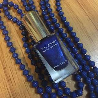 Miniso Japan Jewelry Blue Nail Polish