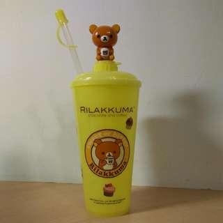 🚚 [Ericaca 愛挖寶] 7-11拉拉熊隱藏版立體公仔冷水壺 (600ml)全新未使用