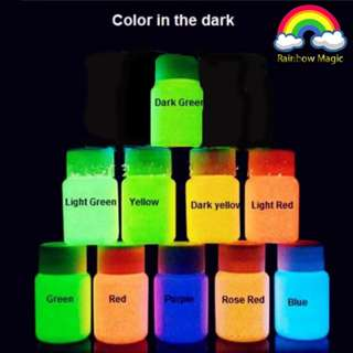 Italy Glow In The Dark Face Painting Pigment Luminous Acrylic Paints Art for Party Make Up 10 in 1*In-Stock*