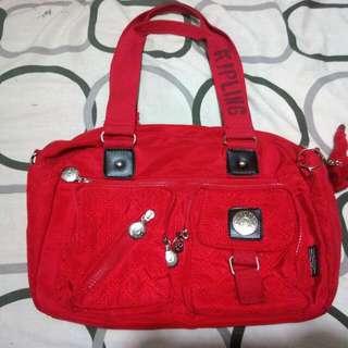 Kipling Defea Handbag - Red