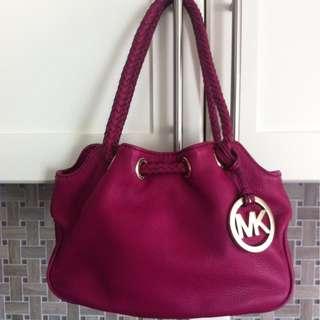 Price drop - Authentic EUC - Michael Kors Fuchsia Bag