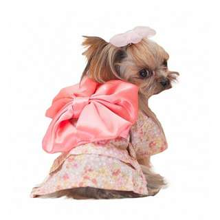 Pet Clothes Apparel Japanese Kimono (Pink Floral)