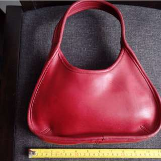 Vintage Coach Red leather bag