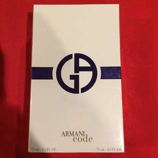 Armani Code  Women's Perfume Spray with 75 ml body lotion  REPRICED