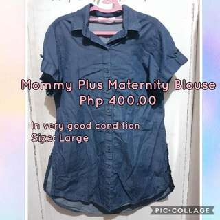🔴REPRICED: Mommy Plus Maternity Blouse