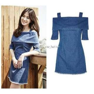 E41280 🔯韓版牛仔連衣裙(圖色)