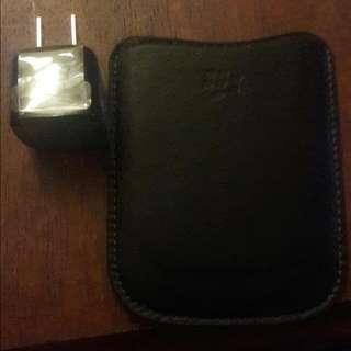 Original Blackberry Bold case + Charger