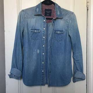 AE | Distressed Denim Shirt