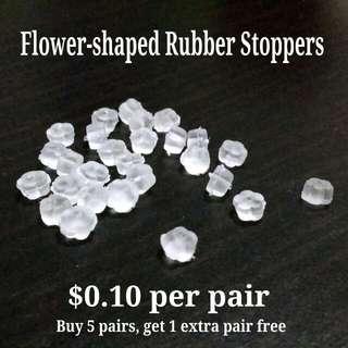 Flower-shaped Rubber Ear Stoppers/Backings