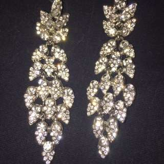 Sterling Crystal Earring And Ring Set