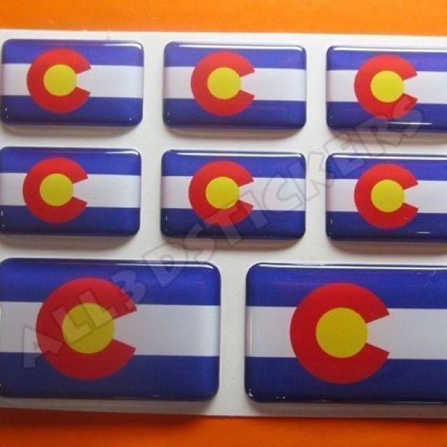 3D sticker COLORADO FLAG 8pcs