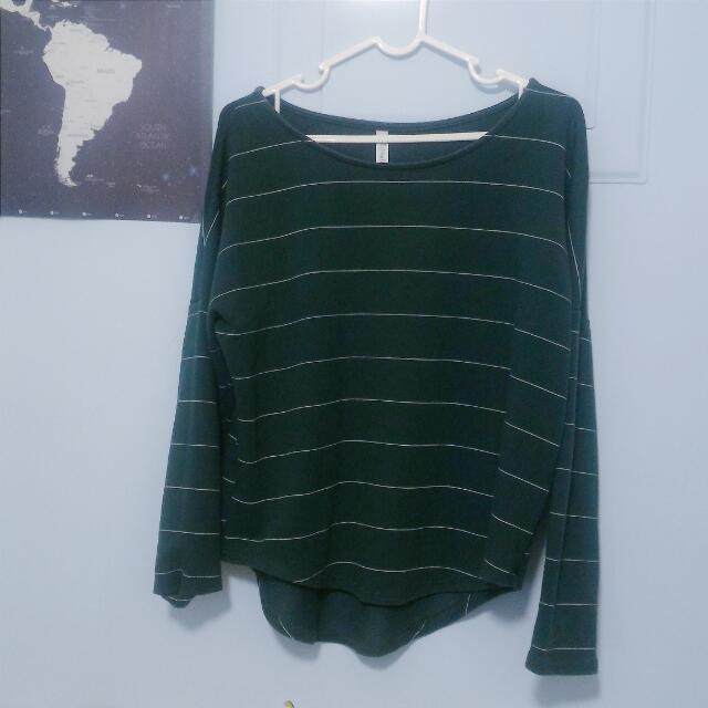 綠色條紋上衣 #好物任你換