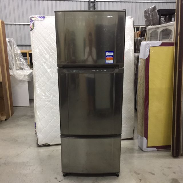 聲寶455L三門冰箱