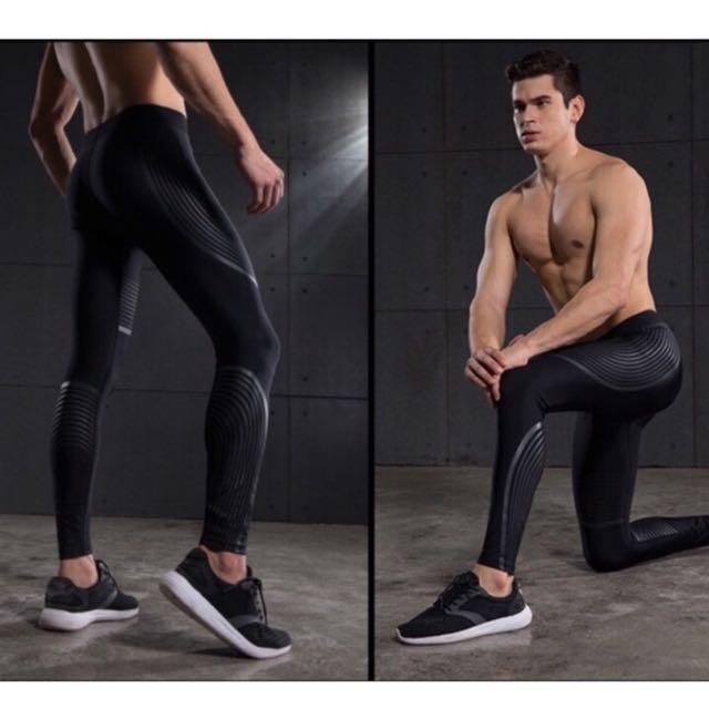 專業級 男性運動壓力打底褲