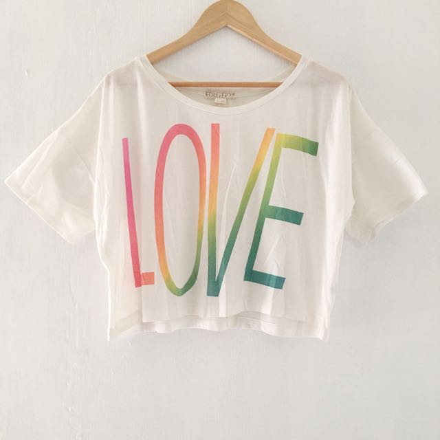 Forever 21 LOVE Crop Top