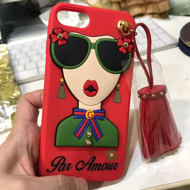 娃娃流蘇手機殼紅色 iPhone 7