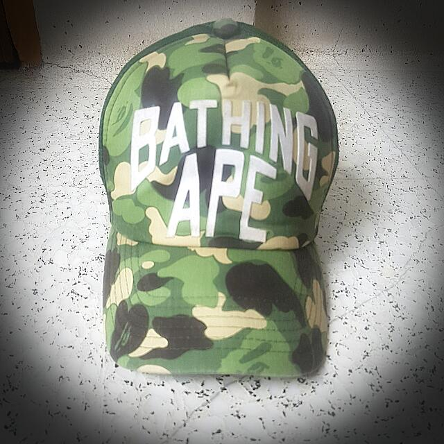 A BATHING APE BAPE AAPE 1ST OG GREEN CAMOUFLAGE CAMO SNAPBACK TRUCKER CAP  HAT 100% AUTHENTIC  RARE. NBHD NEIGHBORHOOD NHIZ WTAPS MDNS VISVIM SUPREME  STUSSY ... d6c424660