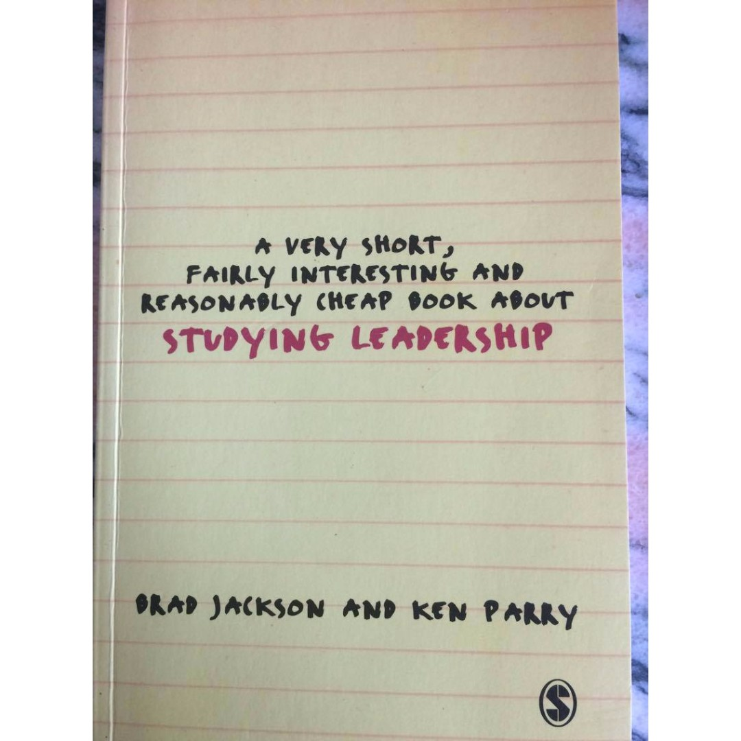 A very short, fairly interesting and reasonably cheap book about studying leadership