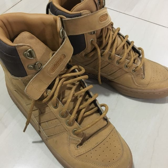 quality design 134dc 786d5 ... ireland adidas originals forum hi og wheat tan brown sneakers classic  retro aq5519 fesyen pria sepatu