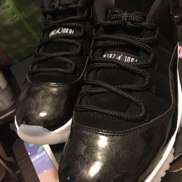 Air Jordan Aj 11 Retro Black White Metallic Silver Low