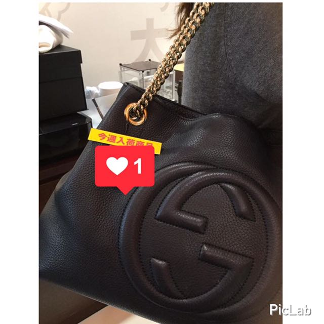 Auth Gucci Soho Black