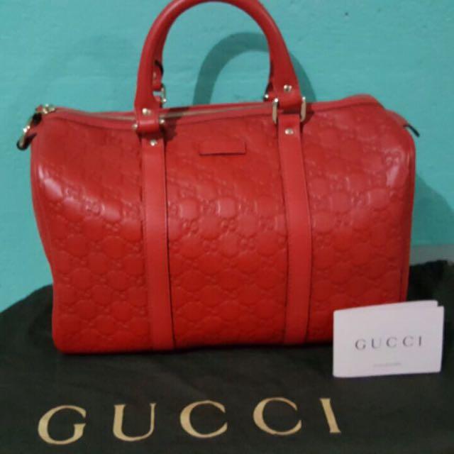 914d6422c Authentic GUCCI Guccissima Leather Medium Joy Boston Bag Handbag ...