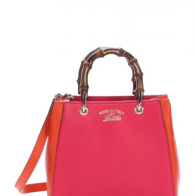 Authentic Gucci Mini Shopper Pink/Orange