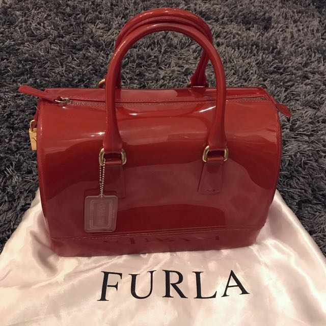 Authentic Red Furla Candy Bag
