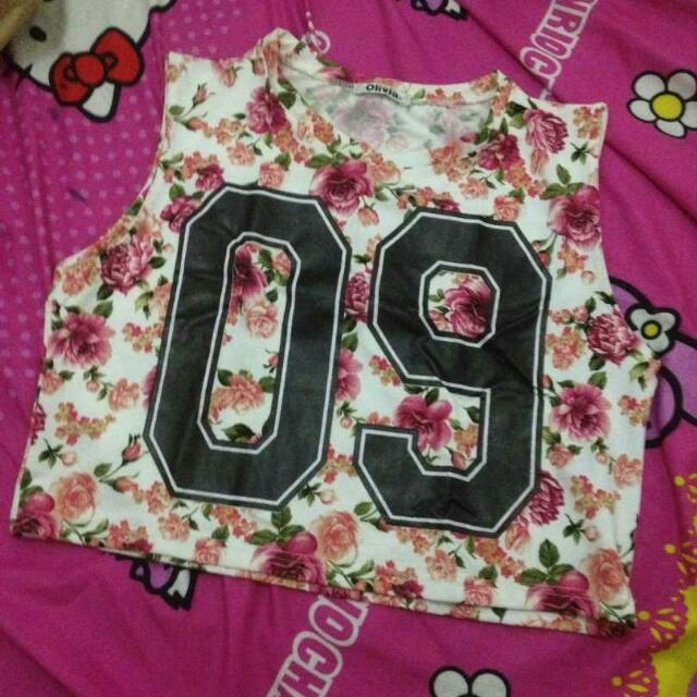 Baju Crop  Via Pulsa