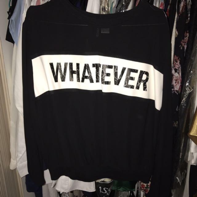"BAJU H&M ""whatever"""