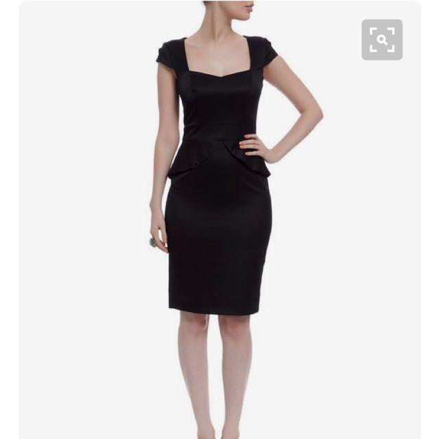 Bardot Monroe Peplum Dress