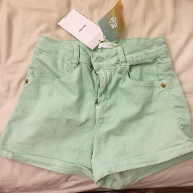 Bershka Bsk Short Pants Mint Pastel