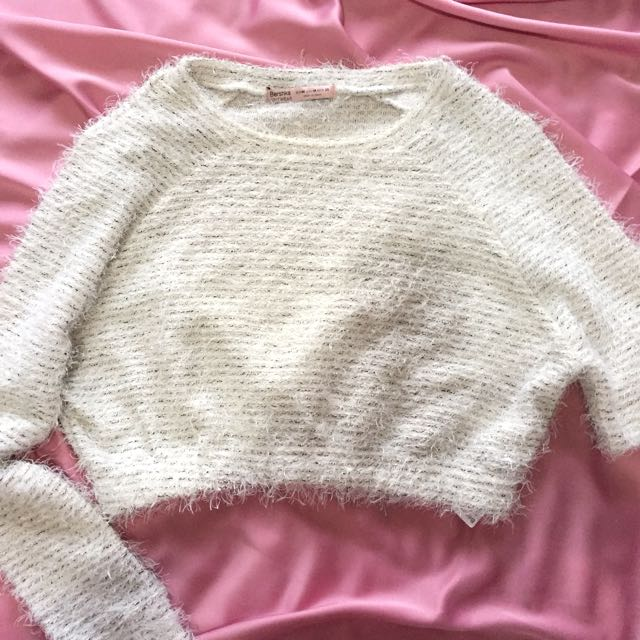 Bershka Knitwear Crop Sweater